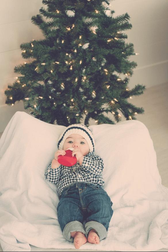 Baby boys christmas sili