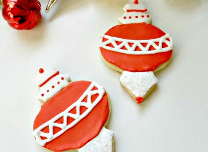 Christmas Ornament Sugar Cookies