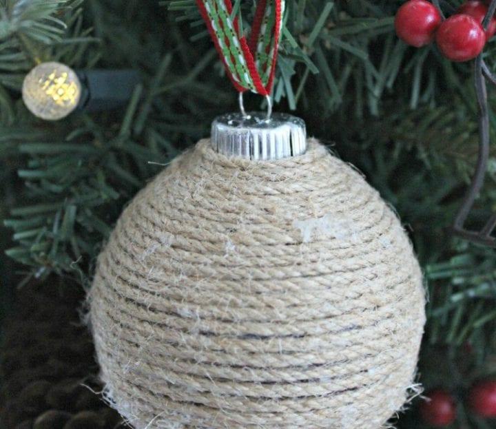 DIY Twine Christmas Ornament