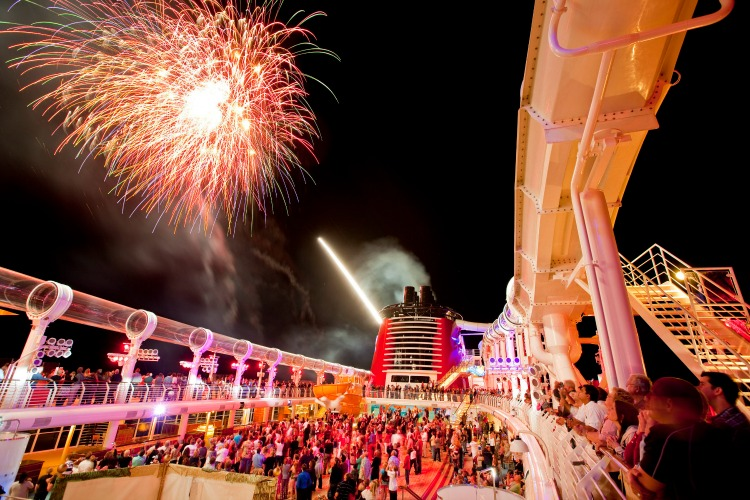 Cruising on the Disney Dream Fireworks at Sea