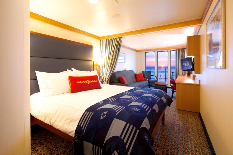 Disney Dream Deluxe Family Oceanview Stateroom with Verandah