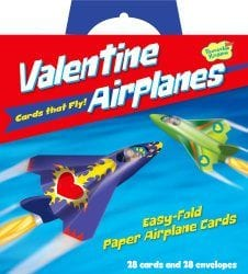 Flying Paper Airplanes Super Valentine Card Pack Price- $12.99