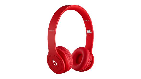 Microsoft Store Beats Solo HD On-Ear Headphones (Drenched in Red)
