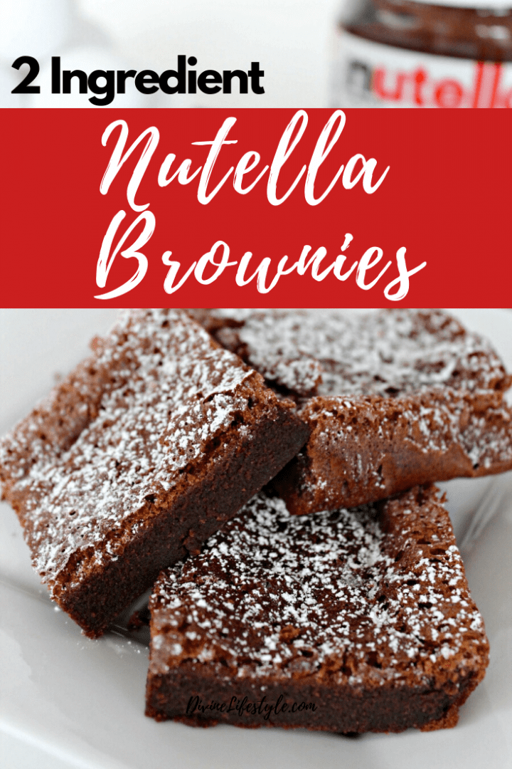 Nutella Brownies 2 Ingredients