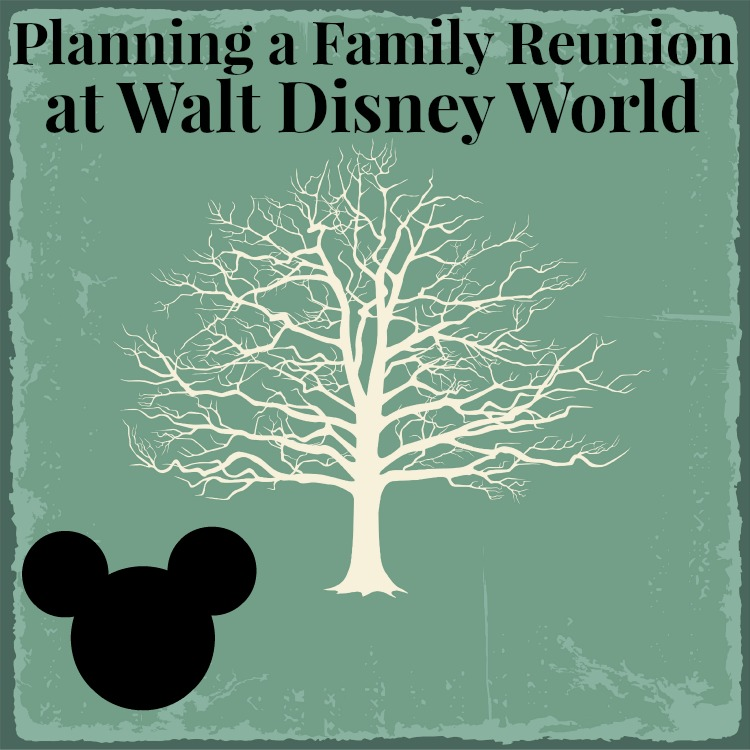 Planning a Family Reunion at Walt Disney World Old bare tree on vintage paper. Vector illustration