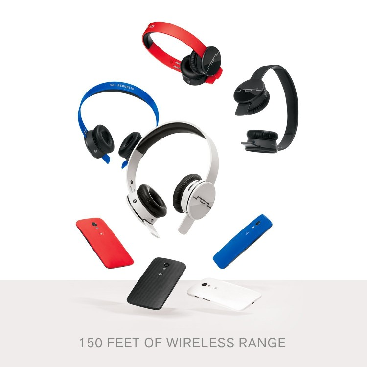 SOL REPUBLIC Tracks Air Wireless On-Ear Headphones with A2 Sound Engine, Ice White 3