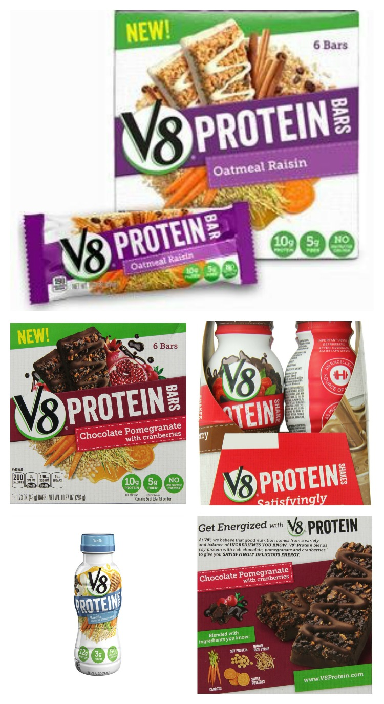 V8 Protein Bars and Shakes
