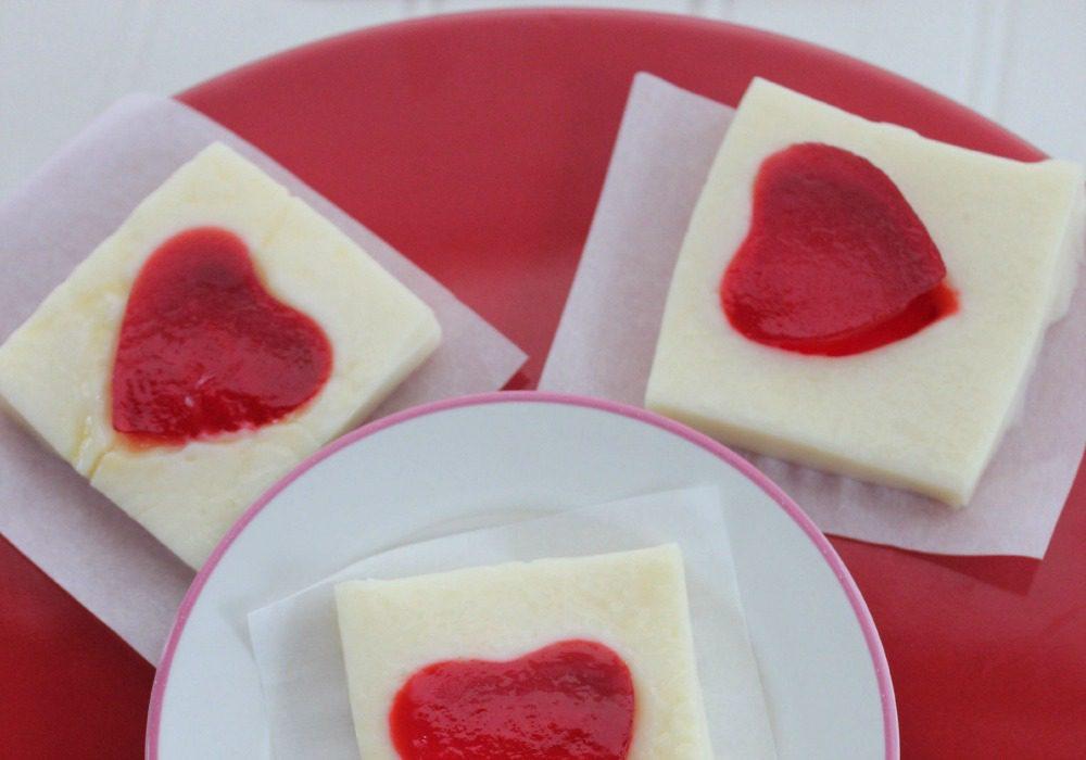 Heart Jello Jigglers for Valentine's Day