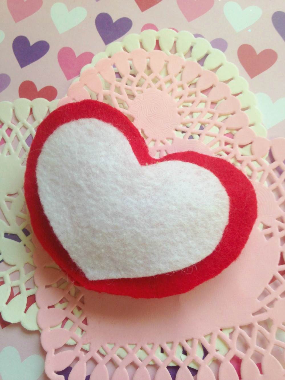 No Sew Valentine's Day Puffy Felt Heart 5