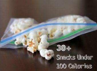 30 Snacks Under 100 Calories