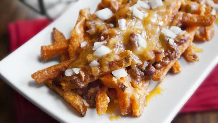 Sweet Potato Chili Cheese French Fries