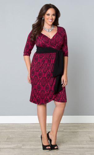 Plus Size Wrap Dress Fashion