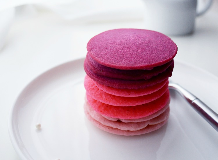 Ombre Pink Pancakes for Valentine's Day