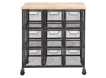 One Kings Lane 33″ Tall Iron Storage Cart – $229.00
