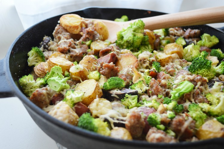 Kielbasa Sausage and Potato Skillet
