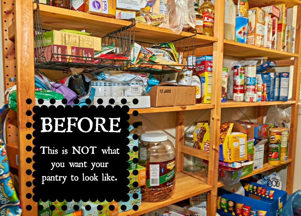 Coupons.com Pantry Purge BeforePantry Picture