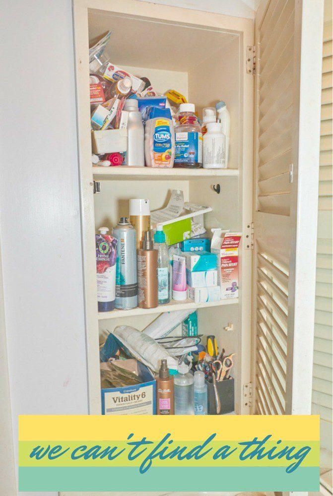 Medicine Cabinet Makeover Unorganized