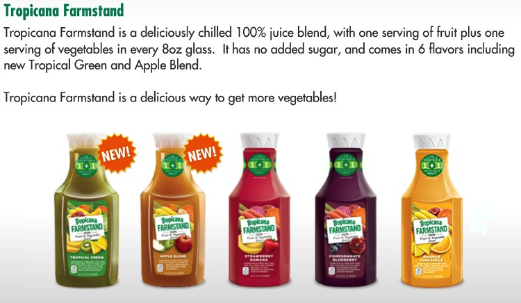 Tropicana Farmstand Tropical Green Gives You 1 Serving of Fruit + 1 ...