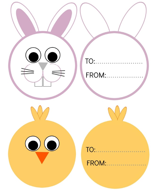 Free bunny and chick Easter Printable.