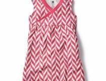 Tea Collection Coastal Chevron Wrap Neck Mini Dress – $29.50