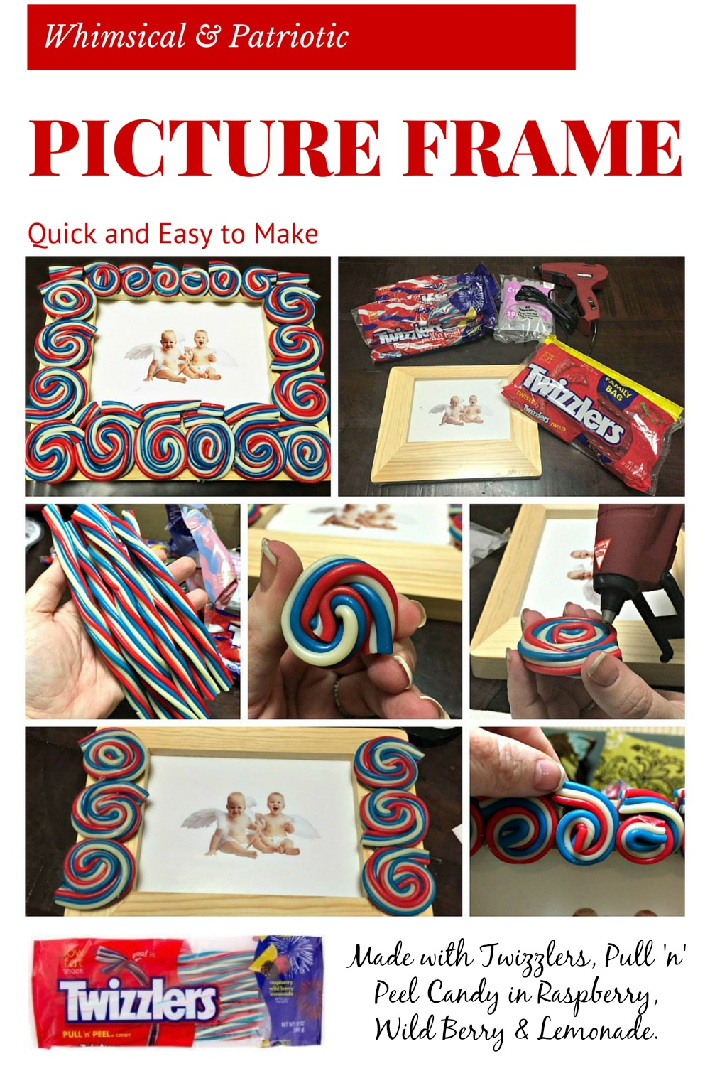 Twizzlers Whimsical Patriotic Picture Frame