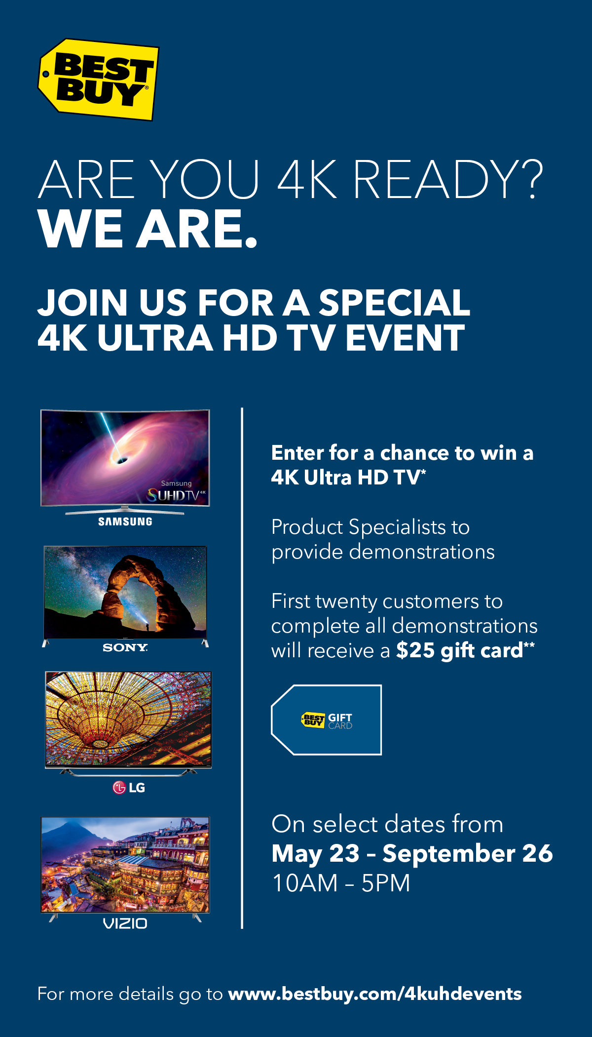 Best Buy 4K Ultra HD In-Store Events