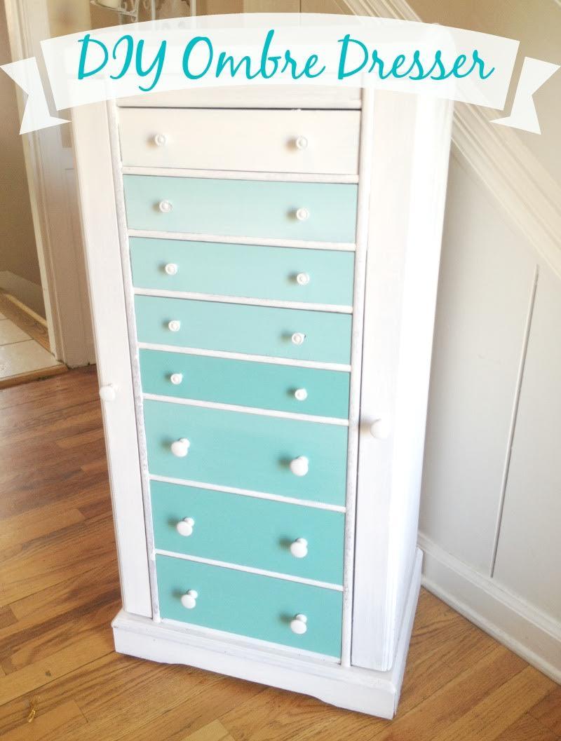 DIY Ombre Dresser