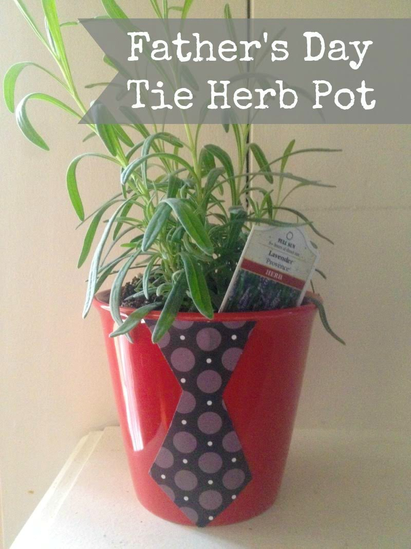 DIY Father's Day Tie Herb Pot