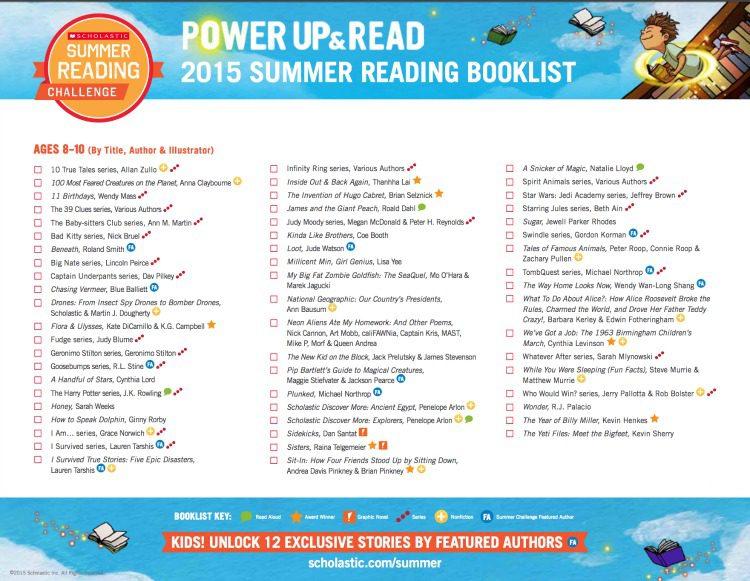 Scholastic Summer Reading List