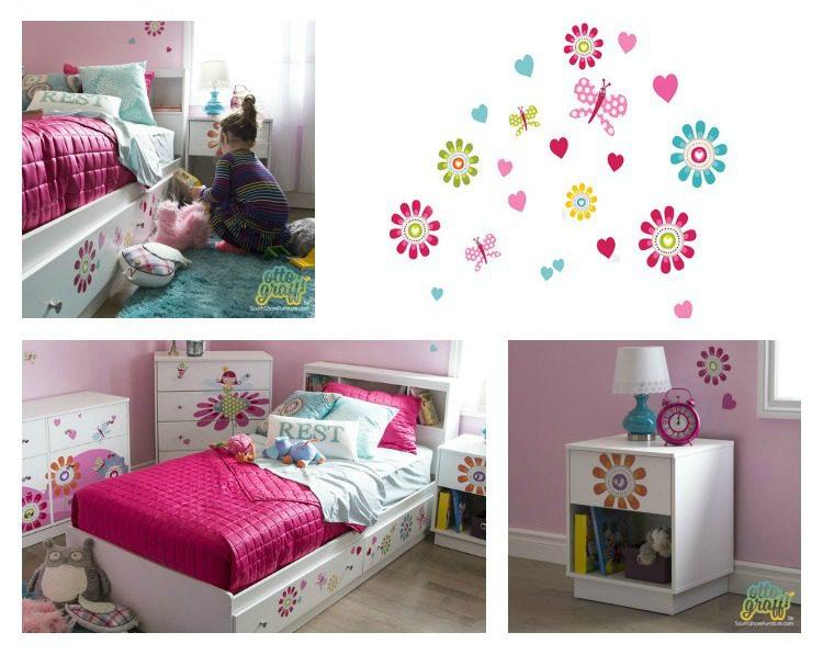 South Shore Furniture - Decor & Decals for Kids Rooms #OTTOGRAFFit #SouthShoreFurniture