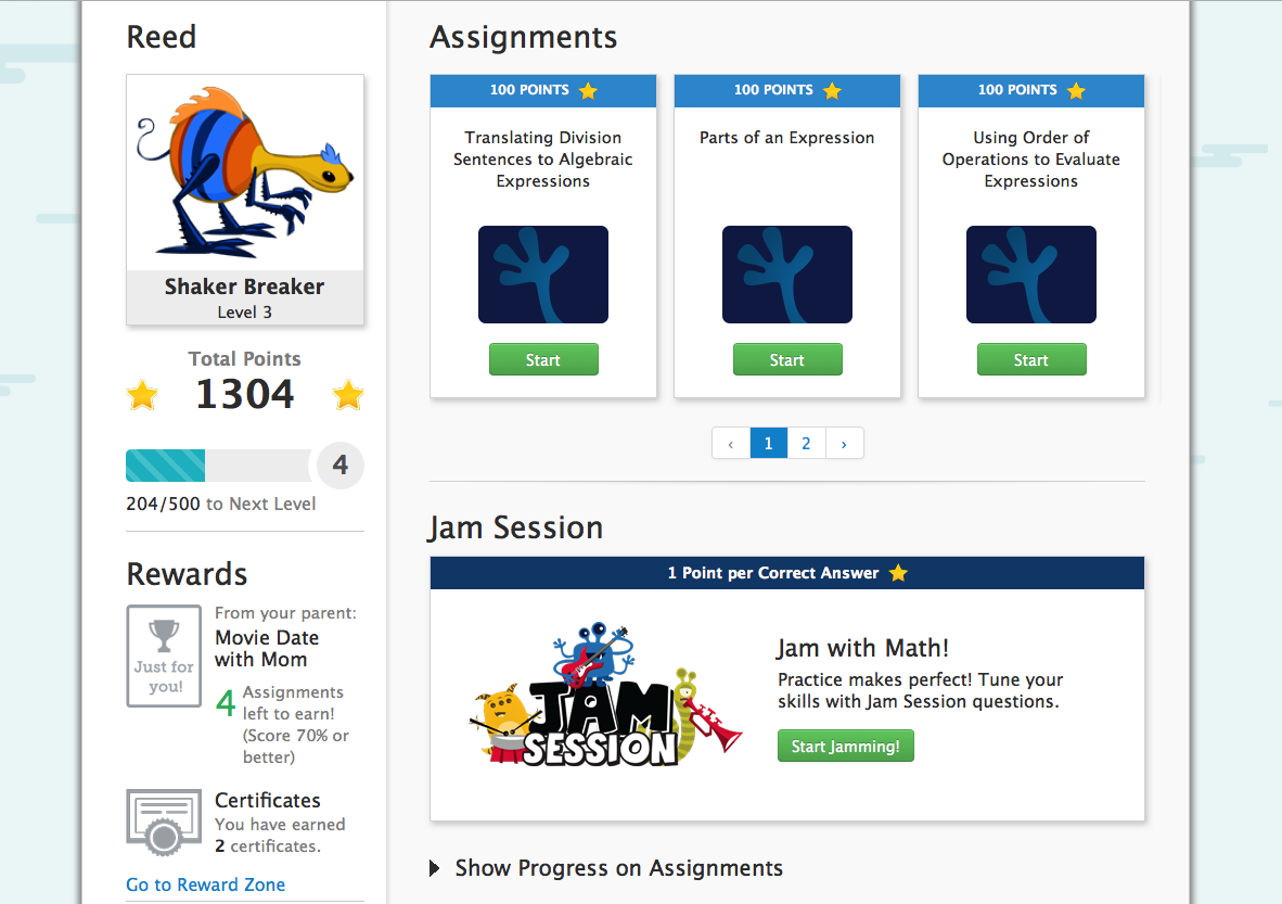 TenMarks Summer Math Program Home Page