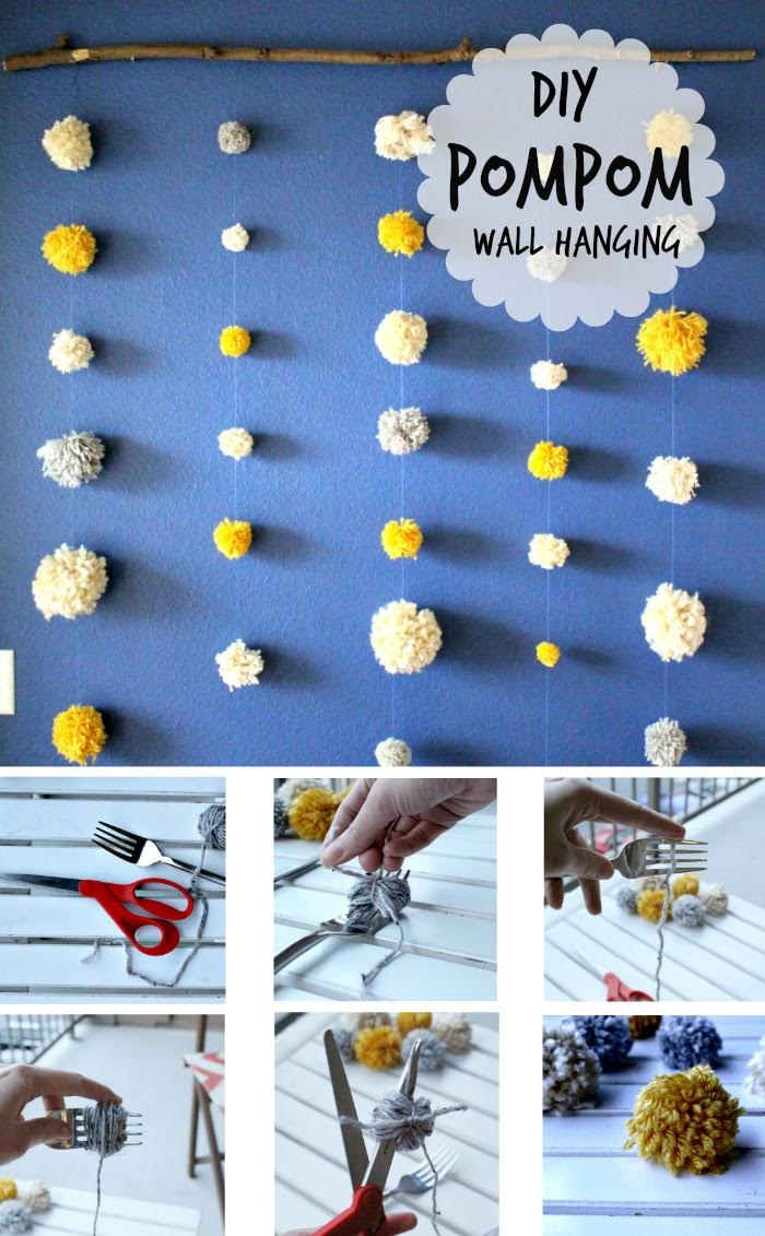 DIY Pompom Wall 9