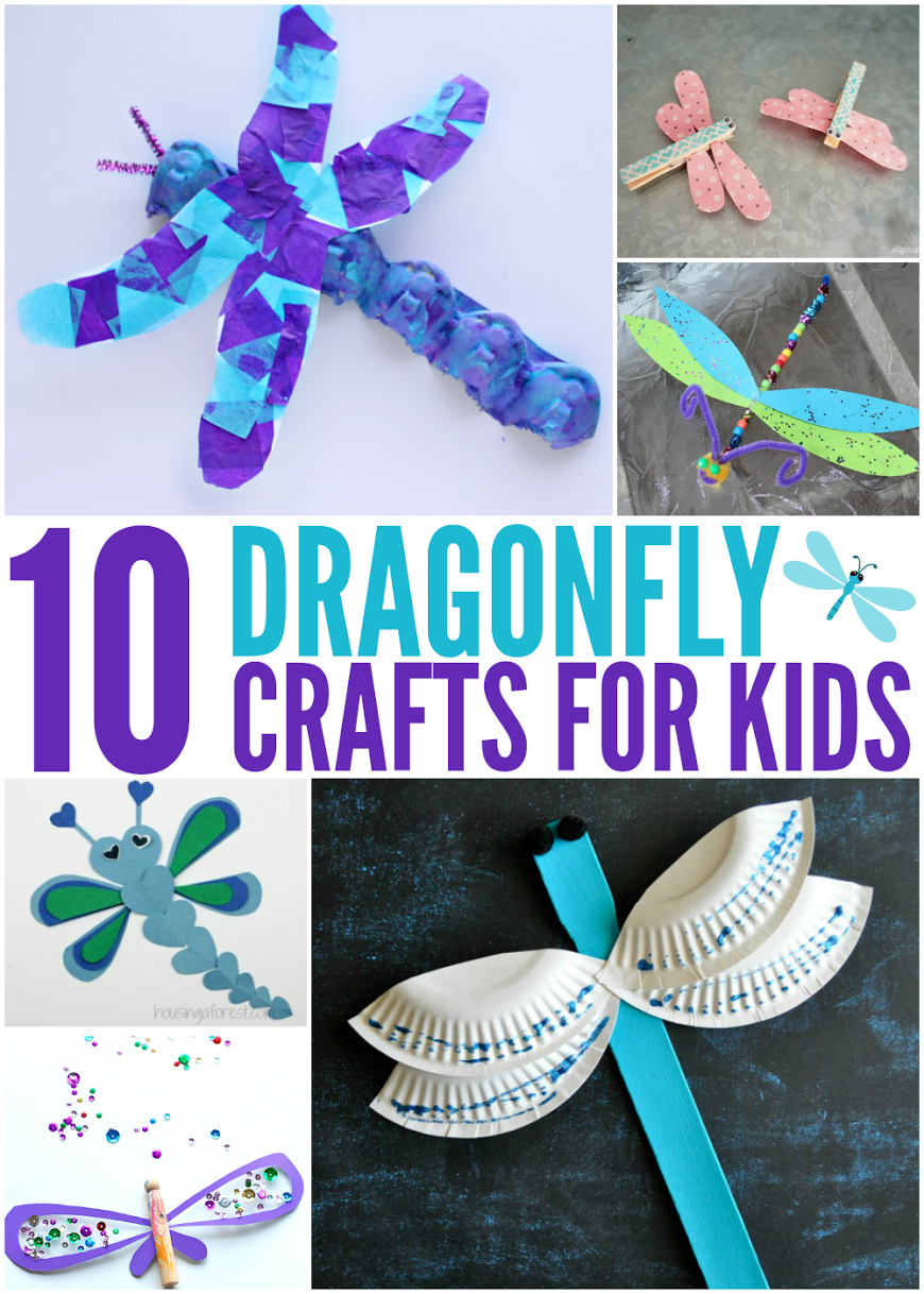 10 Dragonfly Crafts for Kids