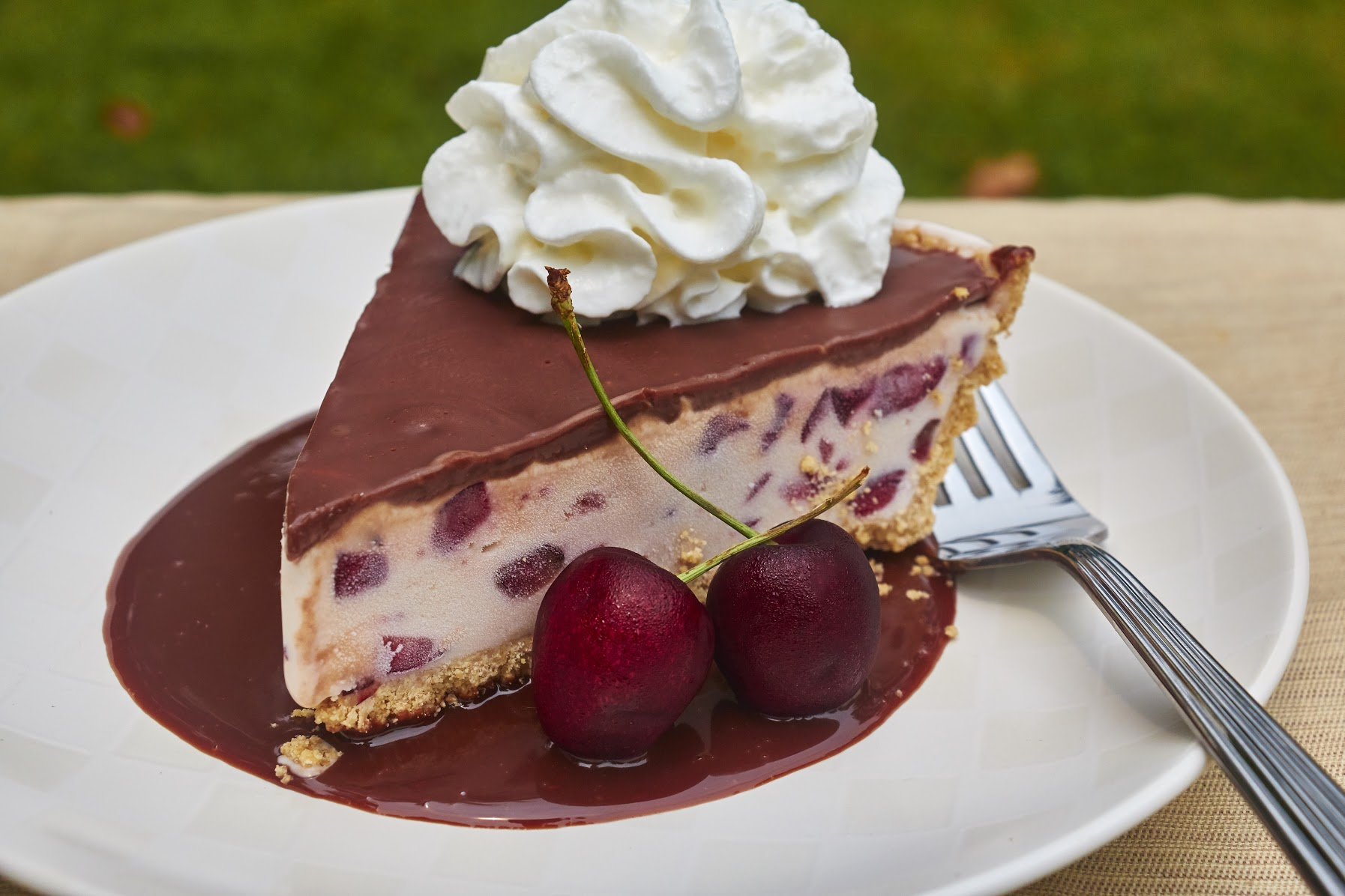 No Bake Frozen Cherry Custard Pie Recipe 13