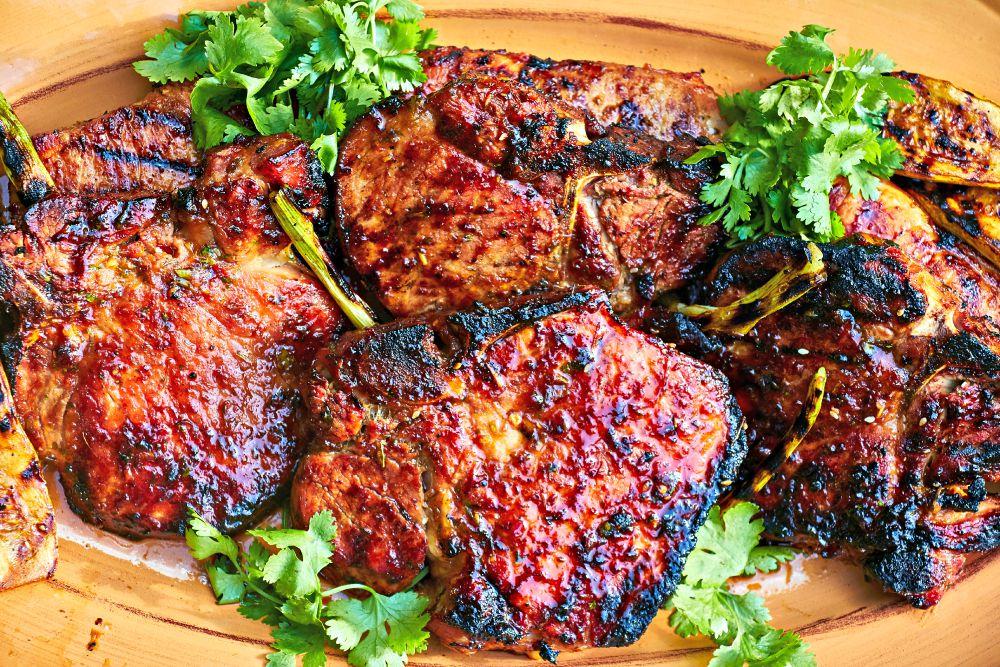 Grilled Island Pork Chops Recipe with Mango