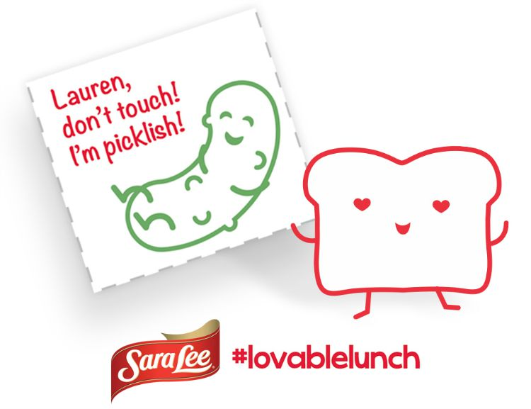 Sara Lee® Bread Lovable Lunch Notes Make Lunch Fun