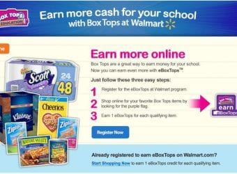 Walmart Box Tops for Education