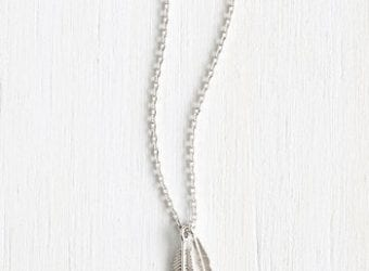 Boho Chic Necklaces from ModCloth Nice Feather We're Having Necklace in Silver