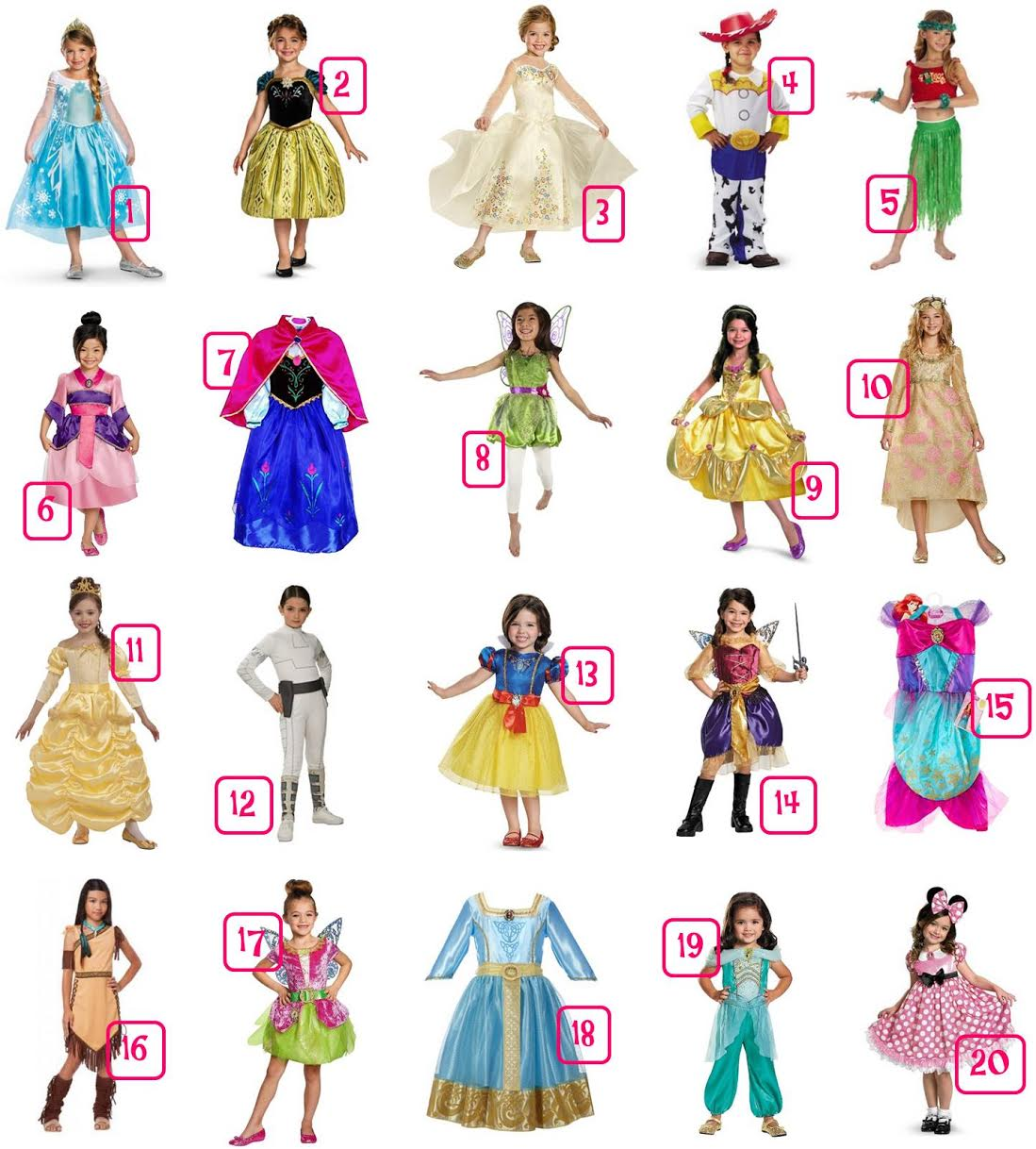 20 Disney Girls' Halloween Costumes Under $30 - Most with FREE Shipping!