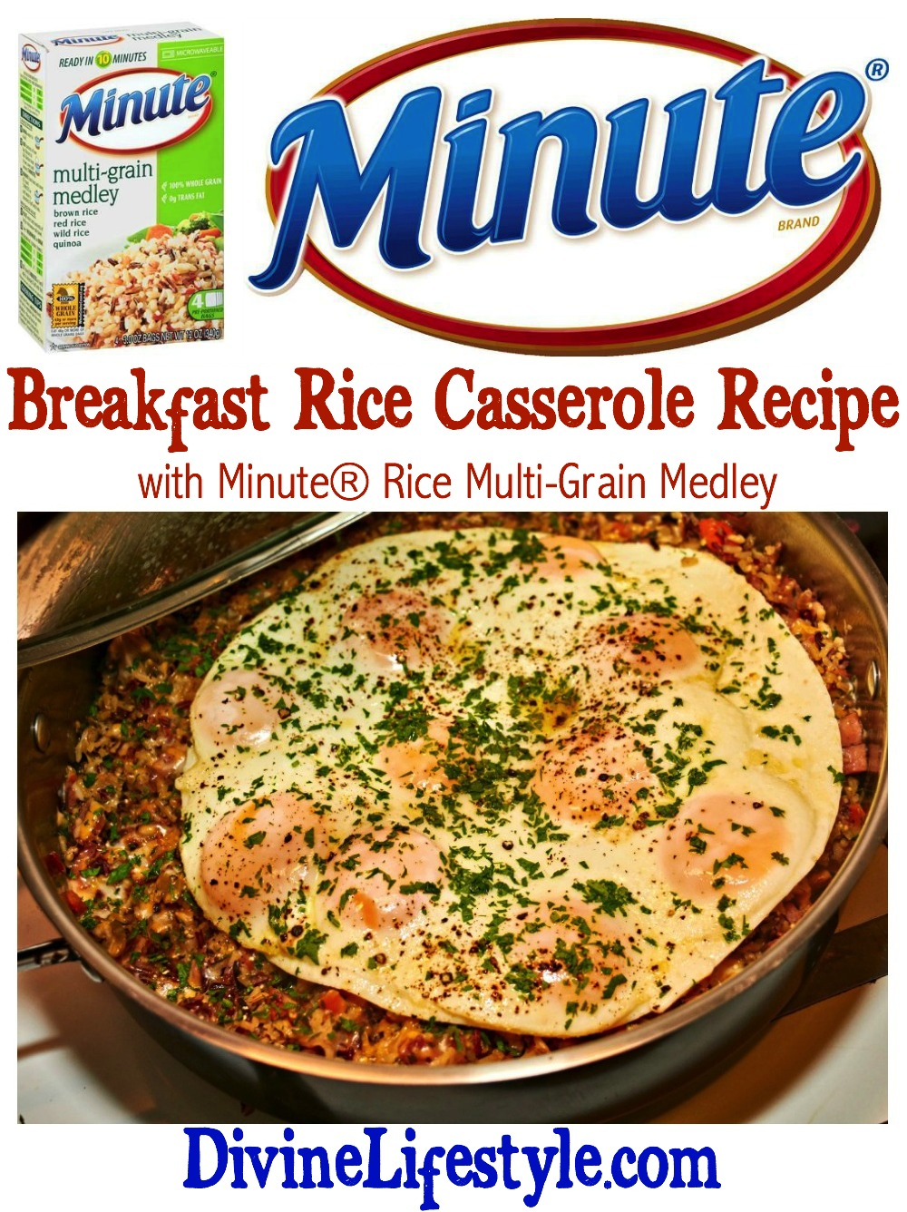 MInute Rice Breakfast Casserole Collage