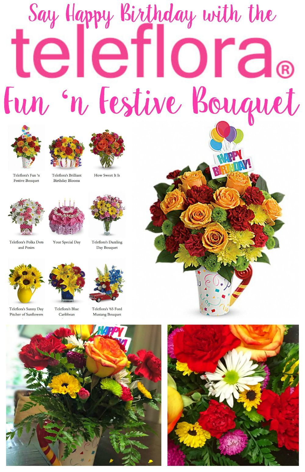 Celebrate Birthdays with the Teleflora Fun 'n Festive Bouquet #FunFestiveBday