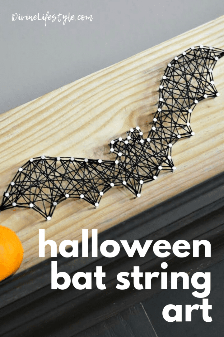 Halloween Bat String Art