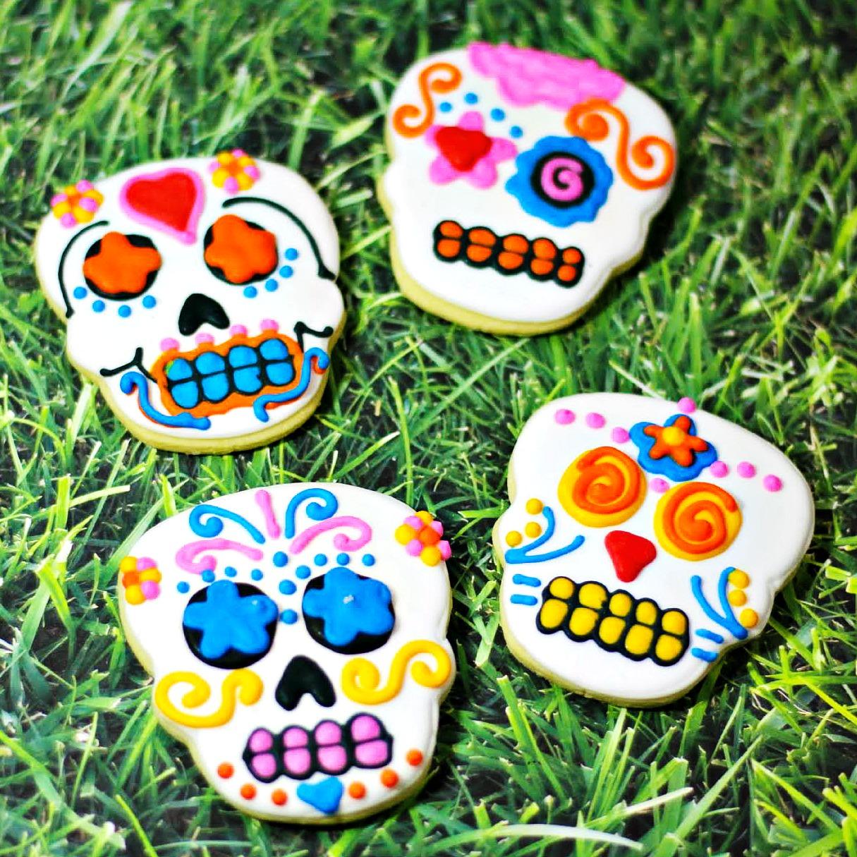 Day of the Dead (Dia de Los Muertos) Sugar Skull Cookies Recipe