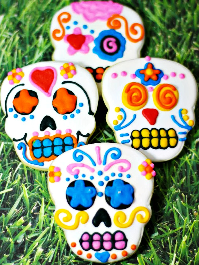 Day of the Dead Sugar Skull Cookies Recipe