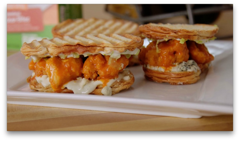 Don't Lose Your Family Time to Sunday Night Football FARMRICH-BONELESS BUFFALO CHICKEN PRESSED SANDWICH