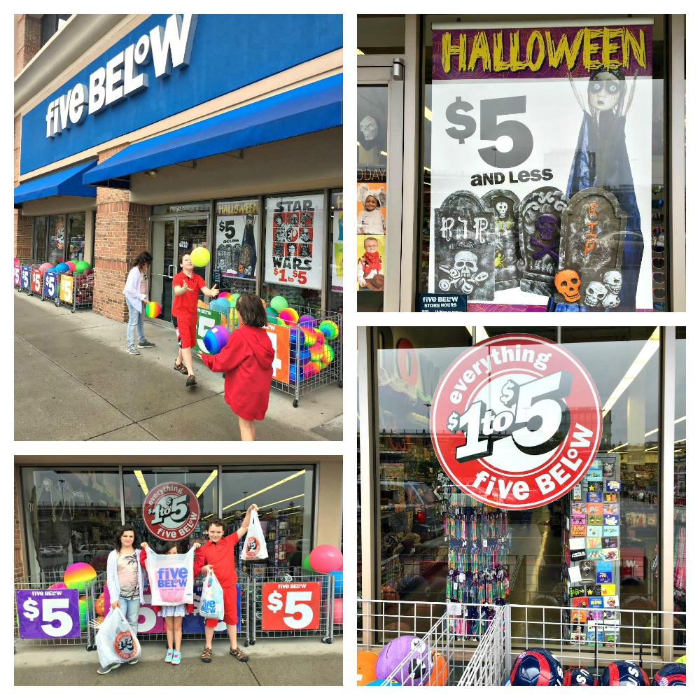 Five Below where everything is $1 to $5, or $5 & below #shop5B