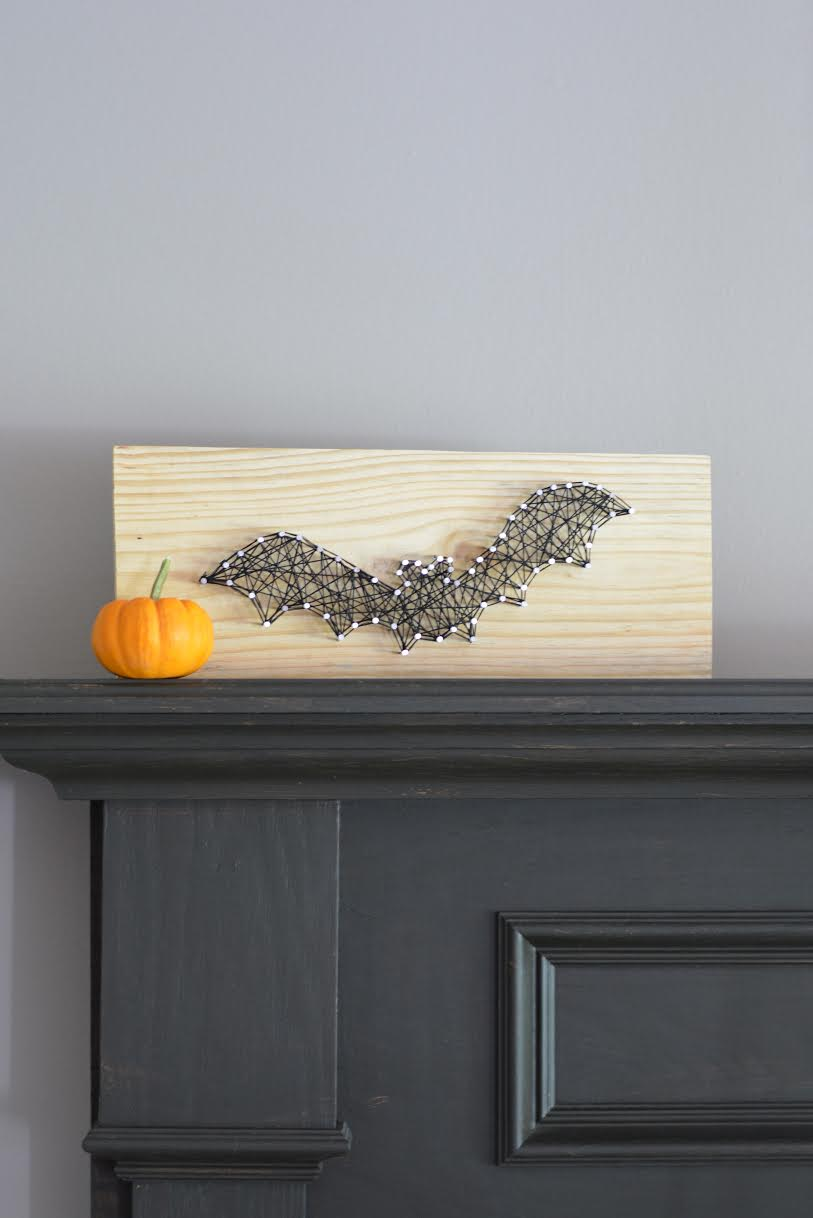 Halloween Bat String Craft 11