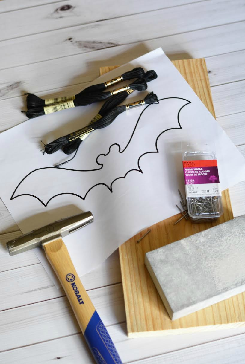 Halloween Bat String Craft 5