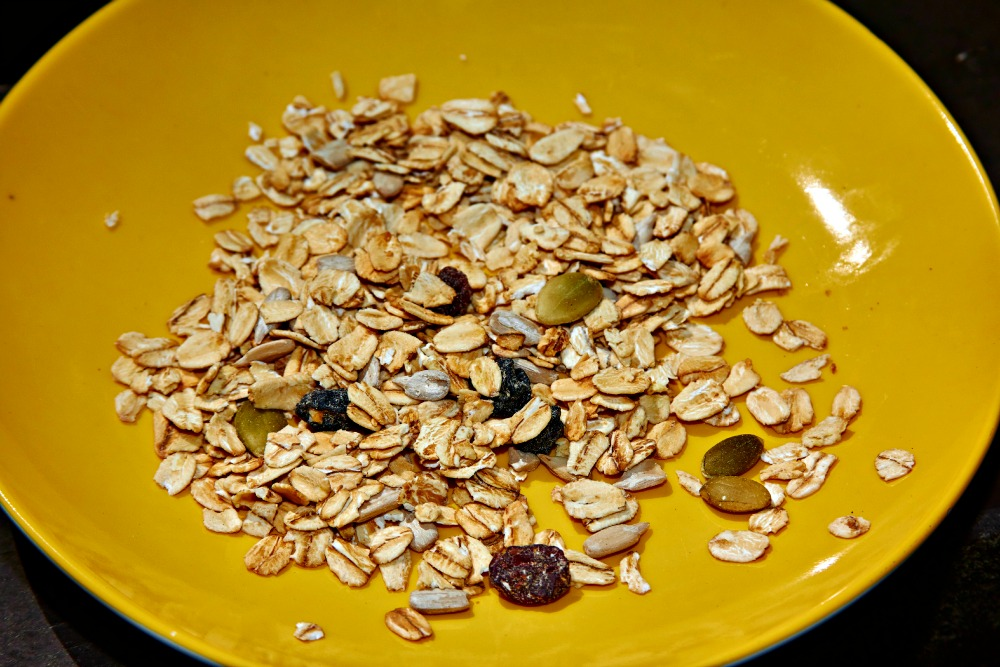 Nature Valley Toasted Oats Muesli on Plate