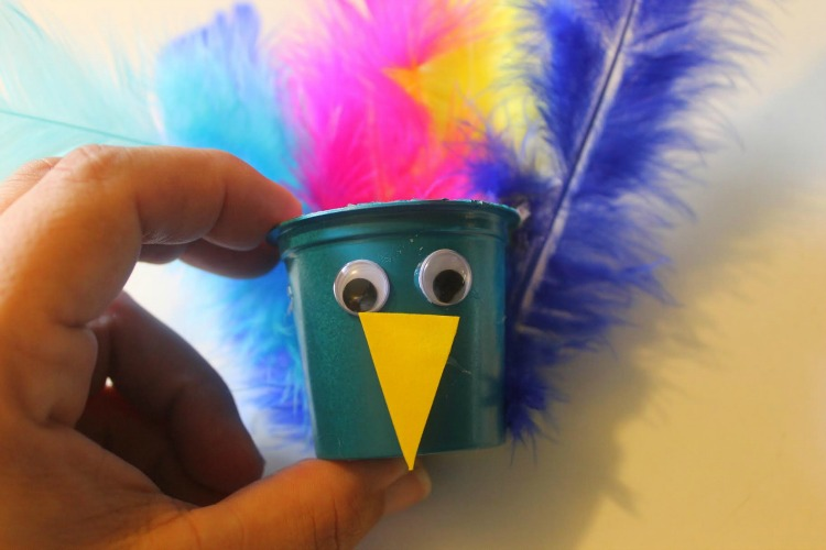 Upcycled K Cup Peacocks Craft